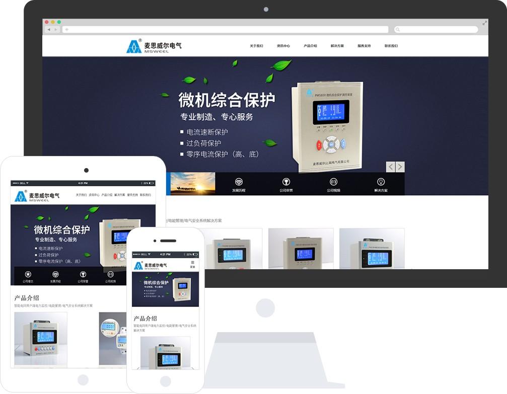 麦思威尔(上海)电气有限公司官网全新改版!